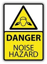 Danger noise hazard sign