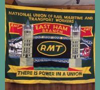 East Ham RMT Banner